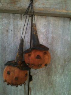 tiny little pumpkin jack o lantern small ornies ornaments fall miniatures grubby