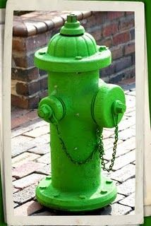 Hydrant in green ....