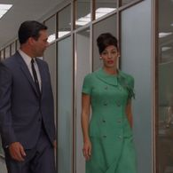 Megan Draper wears a lot of fabulous 1960s and 1970s outfits in Mad Men. This page catalogs all...