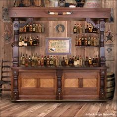 Newest Screen Western Decor bar Strategies Developed redecorating put in at home to obtain intended for every room with your home. It can be achieved with a few se Western Saloon, Western Bar, Old West Saloon, Old Western Decor, Western Furniture, Rustic Furniture, Furniture Market, Saloon Decor, Woodworking Plans