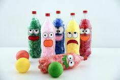 Kids Crafts, Creative Crafts, Diy And Crafts, Toddler Learning Activities, Preschool Activities, Games 4 Kids, Water Bottle Crafts, Montessori Baby, Summer Kids