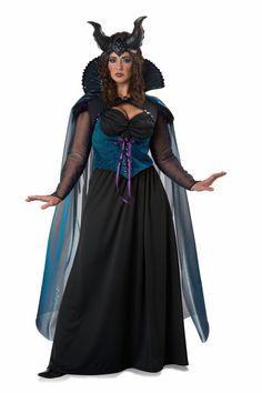 Beautiful Plus Size Maleficent Storybook Sorceress Women s fancy dress costume
