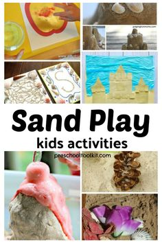 Sand play offers great opportunities for preschool fun and learning. Science, sensory, fine motor and more are part of the creative play with early learners. Fun Crafts, Arts And Crafts, Sand Play, Hands On Learning, Sensory Bins, Creative Play, Fine Motor, Activities For Kids, Preschool