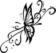 Tribal Tattoo Ideas especially Butterfly Tattoos With Image Tribal Butterfly Tattoo Designs Gallery Picture Tribal Butterfly Tattoo, Butterfly Tattoo On Shoulder, Butterfly Tattoos For Women, Butterfly Drawing, Butterfly Tattoo Designs, Tribal Tattoo Designs, Tribal Tattoos, Butterfly Design, Swirly Tattoo