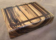 zebrano wooden box