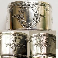 AntiqueFrenchSterlingCuff. FrenchGardenHouse.com