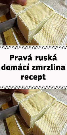 Slovak Recipes, Vanilla Cake, Deserts, Food And Drink, Ice Cream, Bread, Homemade, Meals, Cooking