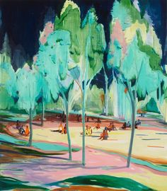 Jules de Balincourt, Underneath the Trees They Listened…and Heard Silence, 2014