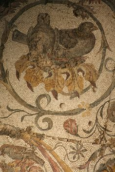 Ancient mosaic    #mosaic #design #roman