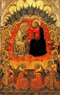 Niccolo di Buonaccorso ~ Italian Gothic ~  Coronation of the Virgin,1380
