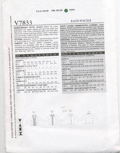 Vogue Pattern V7833 Misses' Petite Jacket par PatternWalk sur Etsy