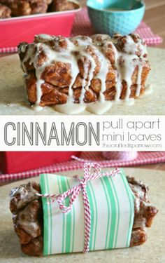 Cinnamon Pull Apart Mini Loaves - thecraftedsparrow.com