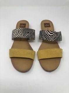 ec0afec4133d7c Women s DV designs by Dolce Vita Bailey Slide Sandals Multicolor yellow-  Size 9  fashion