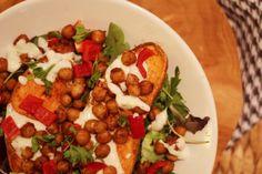 Recept: Zoete aardappel met kikkererwten uit de oven | fitbeauty.nl | Bloglovin'