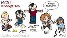 """""""Kindergarten""""<< Mikey... I can't"""
