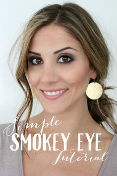 Simple Smokey Eye Tutorial with Urban Decay Naked Smoky - Lauren McBride