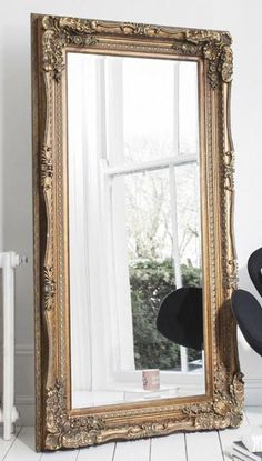 Large Louis Carved Leaner Dark Gold Rectangular Wall Mirror - HP170088 http://www.haysominteriors.com/product/large-louis-carved-leaner-dark-gold-rectangular-wall-mirror/170088.html
