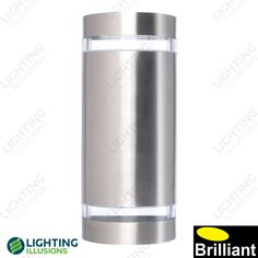304 Stainless Steel Dormon Curved Exterior GU10 Wall Light IP44