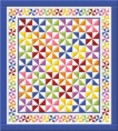 County Fair Pinwheel Quilt Kit - The Virginia Quilter