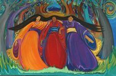 Aradia, Remember Who You Are, Images And Words, Sacred Feminine, Triple Goddess, Impressionism Art, Mother Earth, Nativity, Folk Art