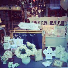 Wedding Window Display at Bow Boutique, Matlock, Derbyshire