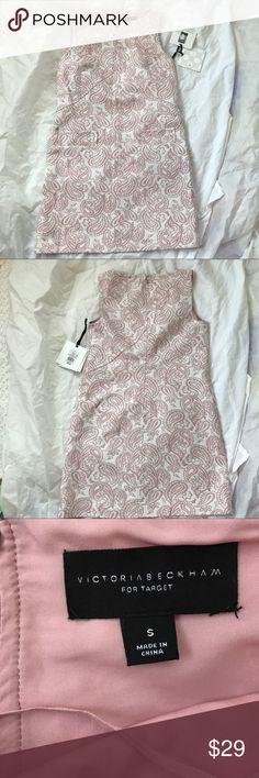 NWT Victoria Beckham For Target Sz Small Dress! NWT Victoria Beckham For Target Sz Small Dress!  Beautiful!  White and pink. Victoria Beckham for Target Dresses