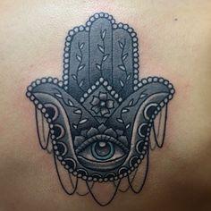 hamsa tattoo by tattoosbycoryc