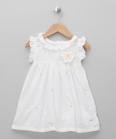 Take a look at this White Daisy Dress - Infant, Toddler & Girls on zulily today!