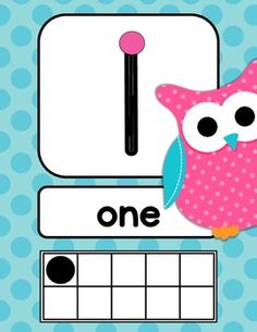 Owls Bright Polka Dot Number Signs
