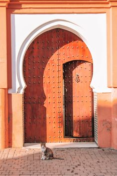 I just got back from a whirlwind trip exploring Marrakech in Morocco and one of the things that stood out the most to me was all the beautiful doors! Visit Morocco, Morocco Travel, Africa Travel, Morroco Marrakech, Places Around The World, Around The Worlds, Tourism Day, Africa Destinations, Travel Destinations