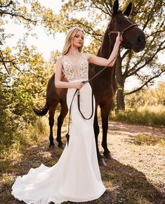View Breathtaking Lace Bodice Wedding Dress - Style from Mikaella Bridal. Sheer Lace bodice with plunging neckline. Lace Fit and flare Crêpe skirt. Wedding Dress Black, Black Tie Wedding Guests, Bodice Wedding Dress, Country Wedding Dresses, Wedding Dress Sizes, Bridal Wedding Dresses, Lace Bodice, Spring Bridesmaid Dresses, Bridesmaids