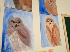 Waldorf Owl Watercolour Paintings Grade 4- Man and Animal