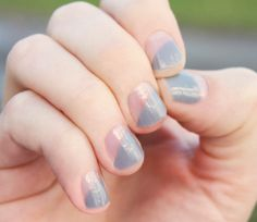Gray Modern French Transparent Nail Wraps by SoGloss on Etsy