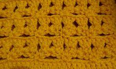 Puntada a crochet, muy fácil, sencilla, divertida y linda. Muestra No. 34