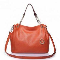 Skórzana torba do ręki  w kolorze pomarańczowym