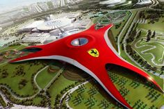Ferrari World in Abu Dhabi - world's largest indoor theme park