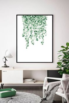 18 Green Room Decor Ideas for Creating a Peaceful and Relaxing Space - Homebnc.site - Beautiful and Creative Home Design and Decor Ideas Green Wall Art, Leaf Wall Art, Leaf Art, Decoration, Art Decor, Room Decor, Decor Ideas, Botanical Wall Art, Botanical Prints