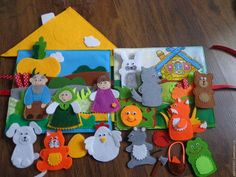 Кукольный театр ручной работы. Пальчиковый театр 4 в 1. Развивающие игрушки для детей.. Интернет-магазин Ярмарка Мастеров. репка