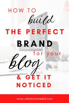 The key to your blog success is high quality and informative content as well as a strong brand that will get your blog and content recognized everywhere. Here are my top tips to help you brand your blog. #brandingtips #marketingtips