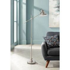 641 best floor lamps images on pinterest in 2018 admiral satin nickel pharmacy floor lamp aloadofball Gallery