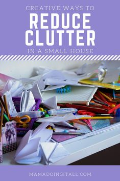 Storgae is a challenge when your house is small! Love these simple tips to reduce clutter in a small house! Easy organization strategies to make your small house feel bigger. Kids And Parenting, Parenting Hacks, Bill Organization, Declutter Your Life, All Family, Organizing Your Home, Simple Living, Small House Living, Organizer