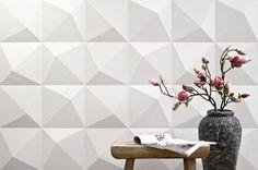 Paneles de compuestos minerales para decorar, de 3DWalldecor. Colección de paneles para decorar paredes en viviendas, hoteles, restaurantes y bares, tiendas…. Es una solución ideada por la marca holandesa 3DWalldecor, con piezas que están hechas de un compuesto mineral (yeso) reforzado con fibra de vidrio. Existen varios patrones (en blanco), que se pueden pintar.  #Decoracion