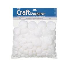 Acrylic Pom Poms - White - Assorted Sizes - 100 pieces (3-Pack) *** Read more  at the image link.