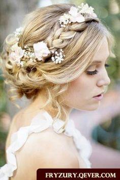 fryzura ślubna warkocze