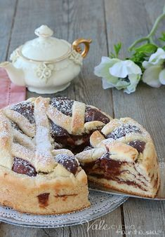 Italian Cake, Italian Desserts, Sweet Desserts, Sweet Recipes, How To Make Cake, Food To Make, Quiche, Italian Pastries, Sweet Cooking