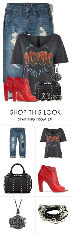 """""""AcDc Voltage"""" by majezy ❤ liked on Polyvore featuring Hollister Co., Topshop, Alexander Wang, Maison Margiela and AC/DC"""