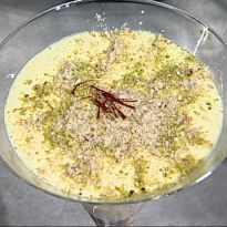 Malai Ki Kheer: Delicious rice #kheer, cooked with condensed milk, khoya, cream and nuts.