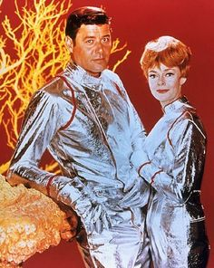 """""""Lost in Space"""" (1965-68)  Guy Williams as John Robinson,  June Lockhart as…"""