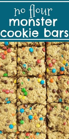 Recipe Chicken Fried Rice - How to Cook Chicken Fried Rice No Flour Monster Cookie Bars Monster Cookies Gluten Free Sheet Pan Classic Monster Cookies Loaded With Peanut Butter, Oats, Chocolate Chips, M&Ms. These No Flour Monster Cookie Bars Bake In A Cook Keto Cookies, Cookies Gluten Free, Pan Cookies, Galletas Cookies, Gluten Free Sweets, Gluten Free Baking, Yummy Cookies, Cookies Et Biscuits, Gluten Free Bars