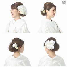 Ayumi Fujinoki[スタジオアクア/ヘアメイク]さんはInstagramを利用しています:「* 後ろにつるっと大きめに。 ご持参いただいた胡蝶蘭をつけて。 hair & make up : ayumi fujinoki photographer : chiaki ooe . . #ブライダル #ウェディング #ブライダルヘア #ウェディングヘア #ヘアスタイル…」 Asian Party, Wedding Kimono, Hair Arrange, Japanese Hairstyle, Japanese Kimono, How To Make Hair, Bridal Hair, Marie, Wedding Hairstyles